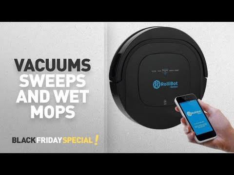 Black Friday Roomba Mop And Sweep: ROLLIBOT GENIUS BL800 – Robotic Vacuum Cleaner- Vacuums,