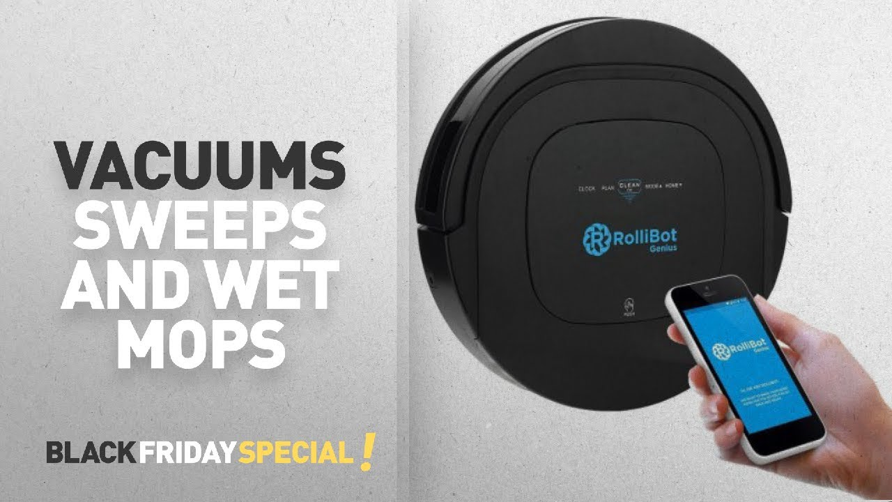 black friday roomba mop and sweep rollibot genius bl800 robotic vacuum cleaner vacuums. Black Bedroom Furniture Sets. Home Design Ideas
