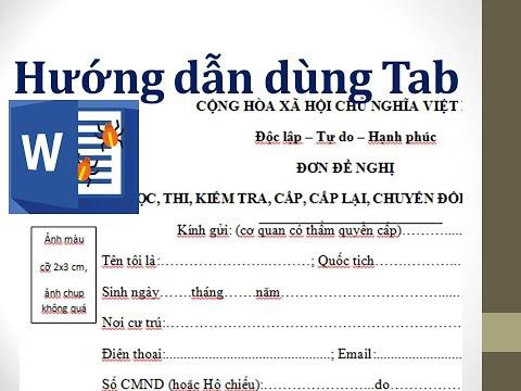 Hướng dẫn sử dụng tab   canh tab trong word 2007 2010 2013 2016 để soạn thảo đơn từ