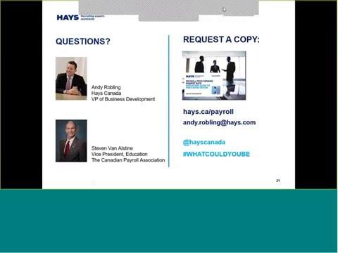 2016 Hays Canada Payroll Salary Guide Webinar