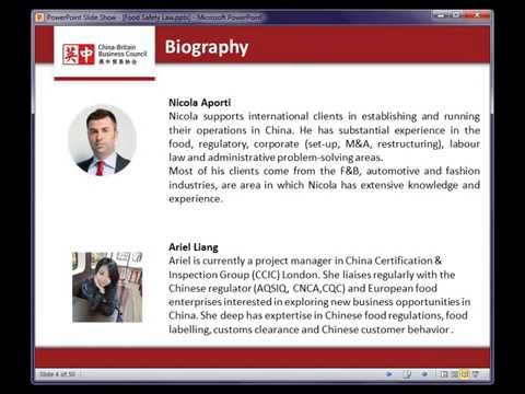 CBBC Webinar - What you need to know about China's new Food Safety Law