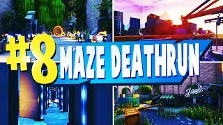 TOP 8 Best MAZE DEATHRUN Creative Maps In Fortnite | Fortnite Maze Deathrun Map CODES