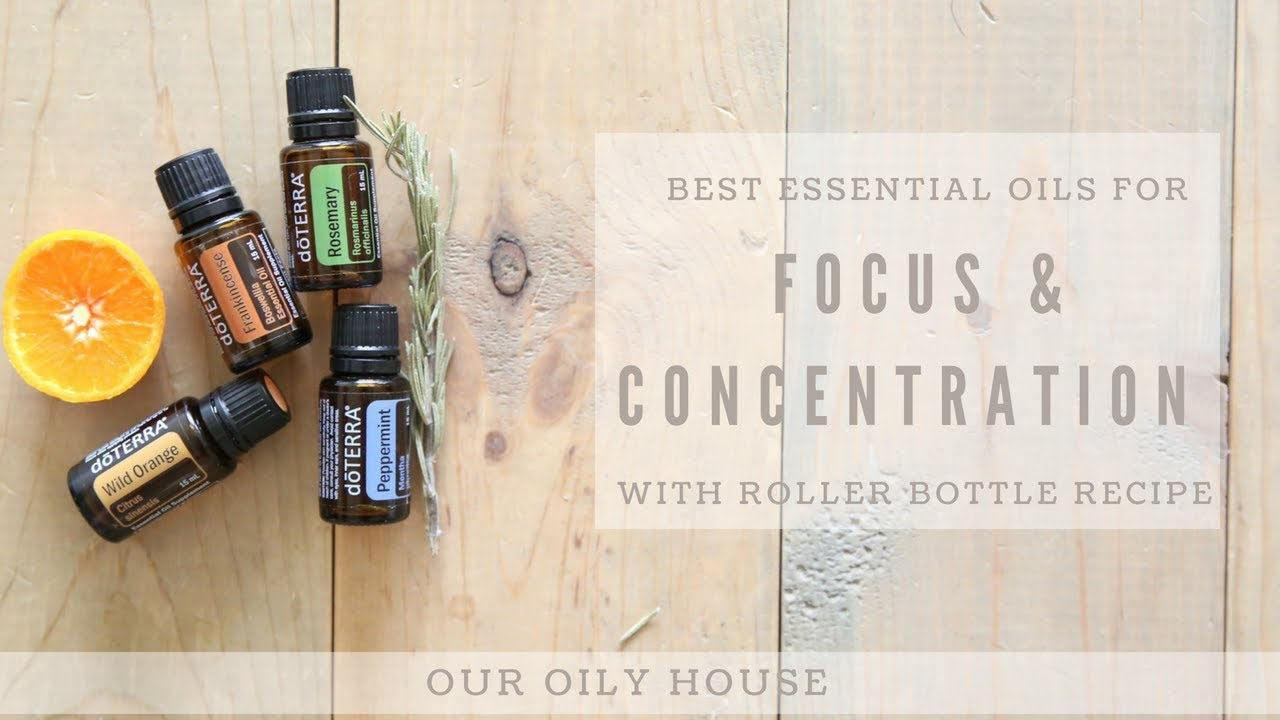 ESSENTIAL OILS FOR FOCUS AND CONCENTRATION | SIMPLE ROLLER BOTTLE RECIPE