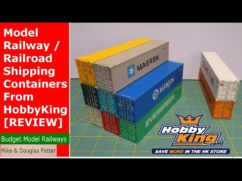Model Railway / Railroad Shipping Containers From HobbyKing - [REVIEW]