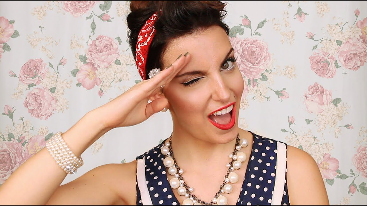 Maquillage Pin Up Vintage Vintage Pin Up Makeup YouTube