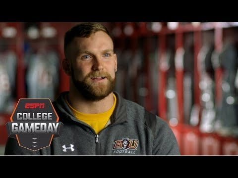 Bloomsburg University DE Findura shares experience as Marine Body Bearer | College GameDay