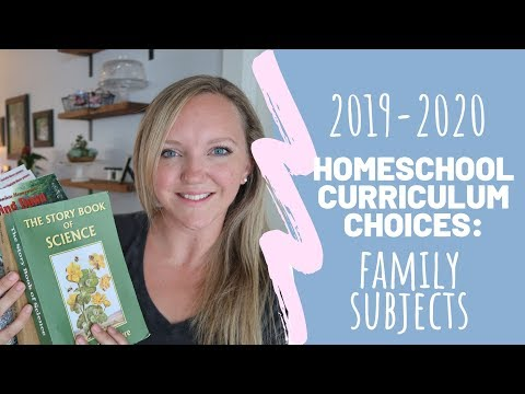 FAMILY SUBJECTS || CURRICULUM CHOICES 2019-2020