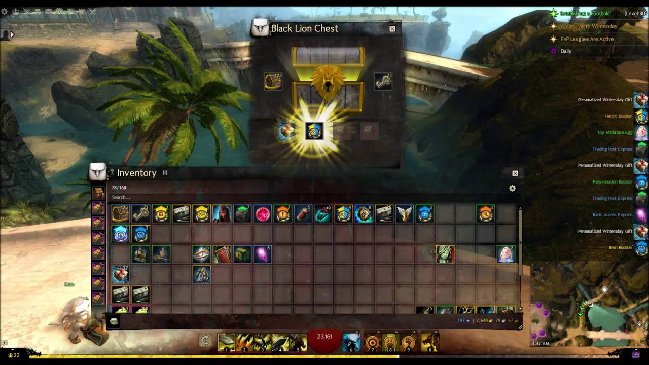 gw2 opening 100 black lion chests powerball jan 9 2016 youtube. Black Bedroom Furniture Sets. Home Design Ideas