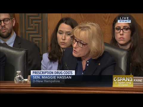 Senator Hassan Questions HHS Secretary Alex Azar During a Health Committee Hearing