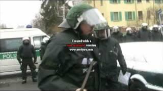 19.2.2011 DRESDEN -beißender PolizeiHund