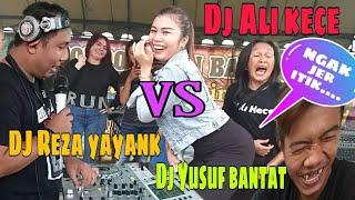 Download Ngakak parah!!!Dj ali kece vs Dj reza yayank vs Dj yusuf bantat vs Vdj Risda bs (live perform party)