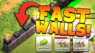 """Clash of Clans: """"MAXING WALLS FAST... LETS DO THIS!"""" MILLIONS OF UPGRADES"""