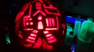 Fun with Carving a Pumpkin 2014
