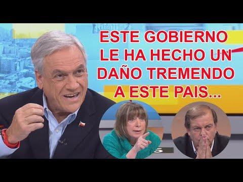 Sebastián Piñera le dio cátedra a los panelistas de Estado Nacional (13/08/2017)