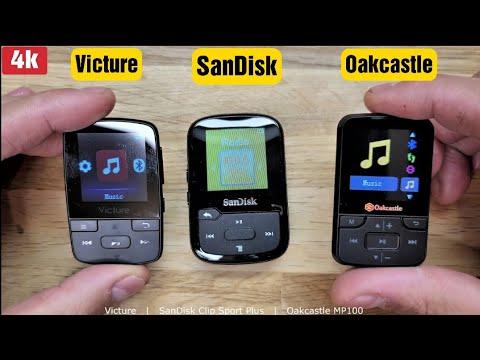 SanDisk Clip Sport Plus VS Oakcastle VS Victure MP100 MP3 Players Review