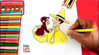 Como Desenhar Jorge Curioso Com Seu Amigo Edward | Como Desenhar Curioso George Com Edward Edward