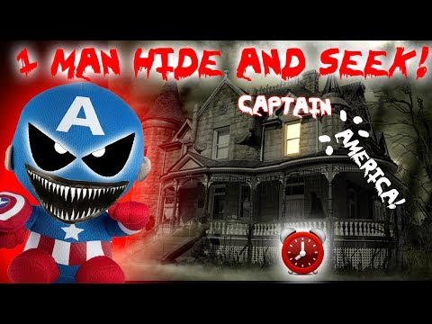 3 AM ONE MAN HIDE AND SEEK CHALLENGE with HAUNTED CAPTAIN AMERICA! (GONE WRONG)