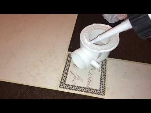 Установка сифона в душевой кабине. Использовать силикон обязательно!!!