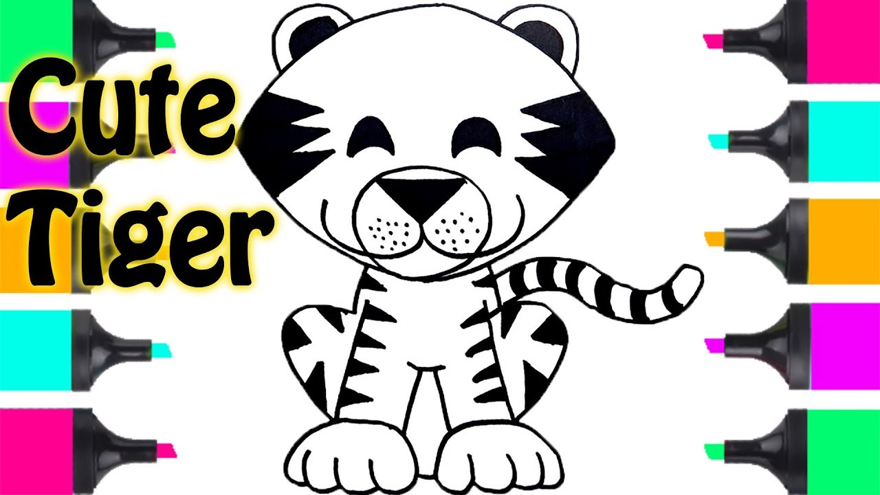 How To Draw Cute Tiger Easy Step By Step Coloring Pages ...