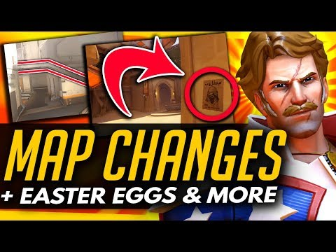 Overwatch | ANA WANTED + TALON ROOMS (Map Changes & Easter Eggs)