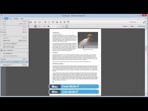 Adobe Acrobat XI Tutorial | Finding And Searching In PDFs