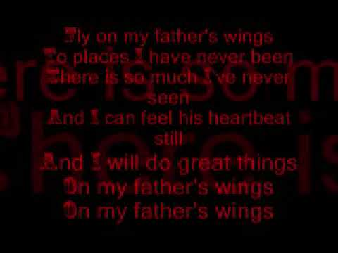 On My Father's Wings with lyrics