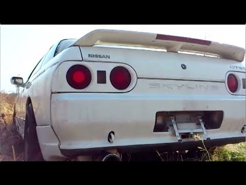 junkyard car finds in japannissan skyline r32 not gt rabandoned cars