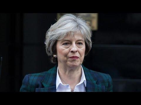 British Prime Minister Theresa May Hold News Conference with Turkish PM Binali Yildrim