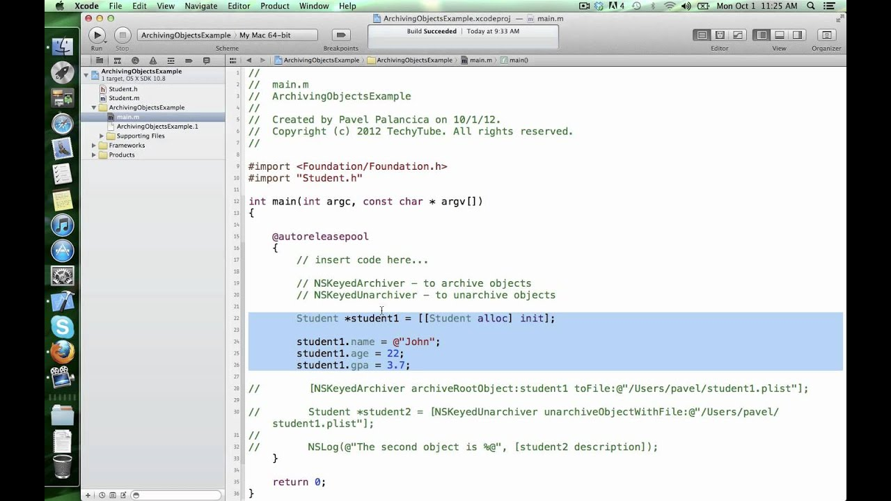 Archiving and unarchiving objects in Objective-C