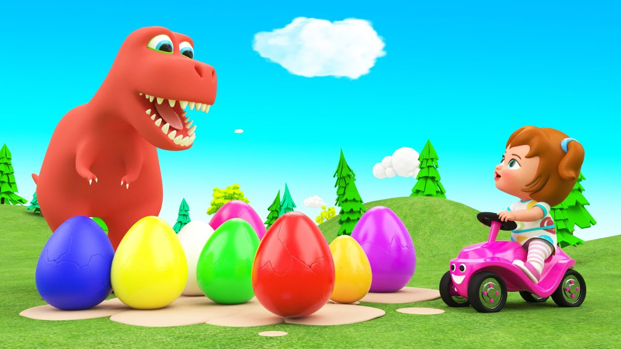 Dinosaur Cartoon Videos Dinosaur Eggs Baby Girl Fun Play Baby Learning Videos Super Crazy Kids Youtube
