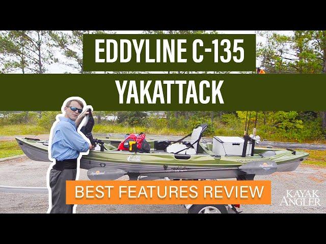 Eddyline C-135 YakAttack 🎣 Fishing Kayak 📈 Specs & Features Review and Walk-Around 🏆