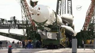 ISS Expedition 45  Soyuz TM-18M Mating and Rollout to the Launch Pad