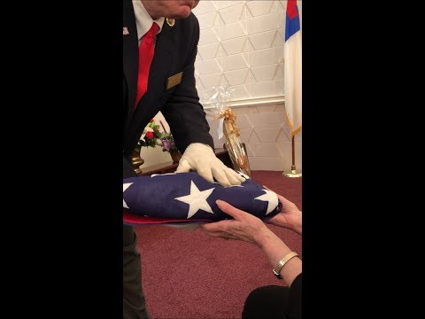 American Legion Post 112 Honor Guard Flag Ceremony For Leo Whaley