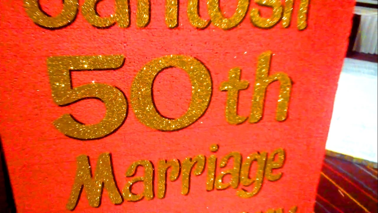 Expert Organisers 50th Wedding Anniversary Decorations At Hotel