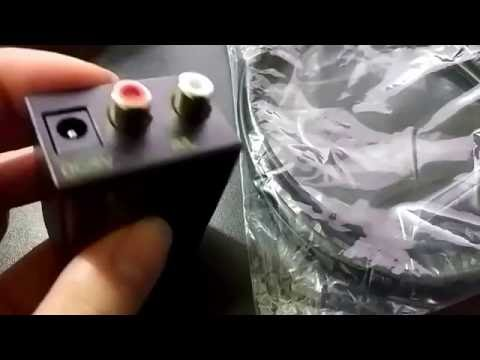 Digital Optical Coax toslink to Analog RCA Audio Converter Adapter with Fiber Cable Review