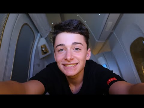 I Flew Emirates First Class and It Was Insane! | Noah Schnapp