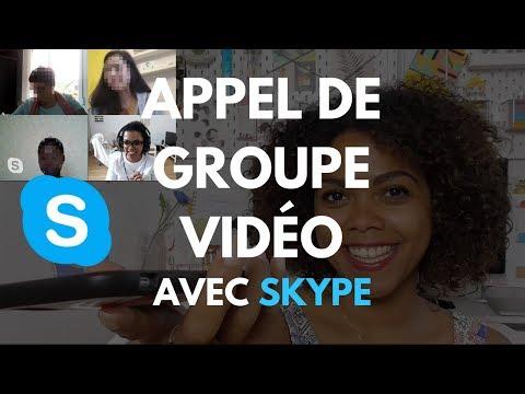 Appel de groupe sur Skype