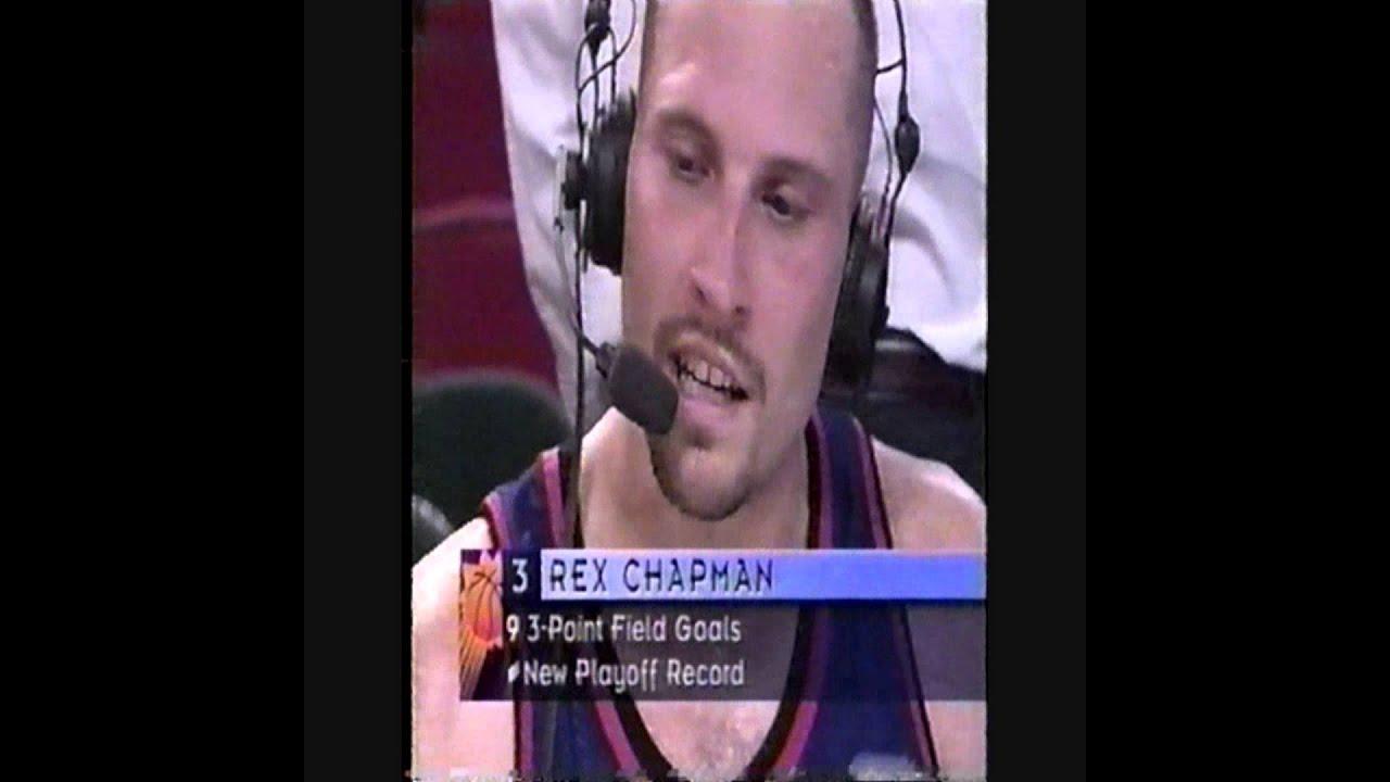 Rex Chapman 42 pts 9 3 s Suns vs Sonics 1997 w post game