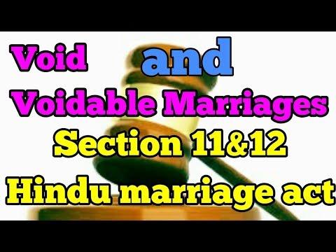 Void and voidable marriages|शून्य और अमान्य करणीय शादी|हिंदू विवाहअधिनियम |