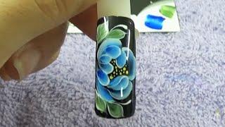 Cách sử dụng gel vẽ nail, sử dụng gel vẽ, vẽ hoa bằng cọ bản lên móng tay 1