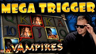HUGE WIN And BONUS on Vampires!! - Merkur Slot!