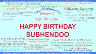Subhendoo   Languages Idiomas - Happy Birthday