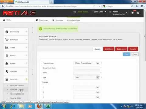 BOSapps For IT Hardware Rental Software, Accounts Module Flow (Video 7)
