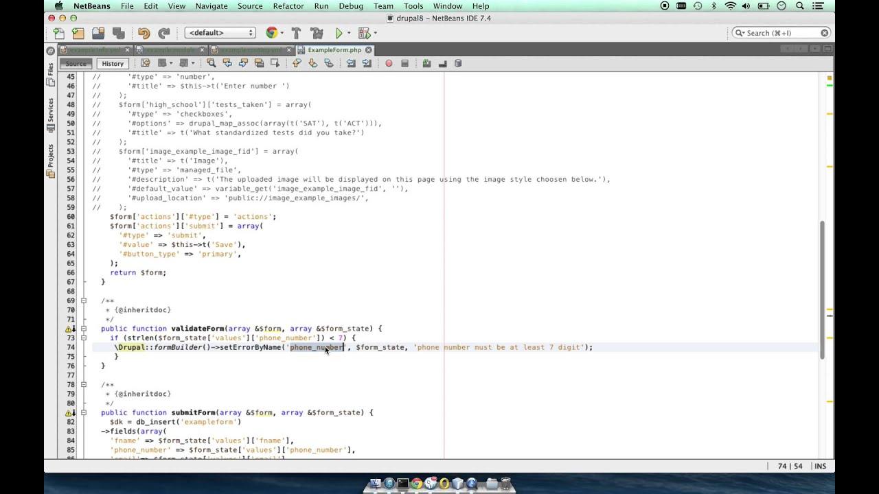 Drupal 8 form api example. - YouTube