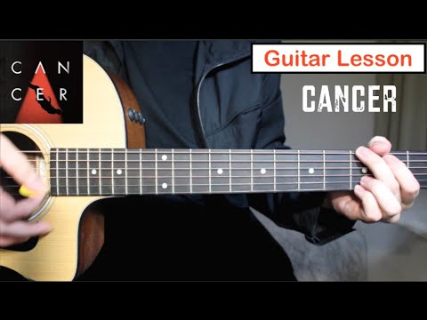MCR/Twenty One Pilots Cover - Cancer | Guitar Lesson (Tutorial) How to play Chords