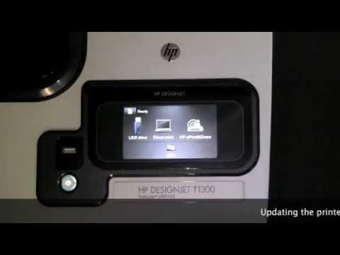 HP Designjet T790 and T1300 Enbling Web Connectivity and Updating Firmware