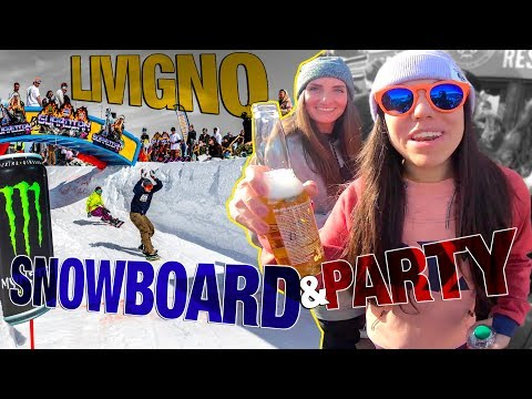 LIVIGNO*** 8 Ore Di Snowboard E 12 Ore Di PARTY!!! The Guardian Al Carosello!