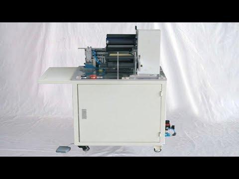 wire cable folding labeling equip semi auto customized sticker labeller machines d'étiquetage de fil