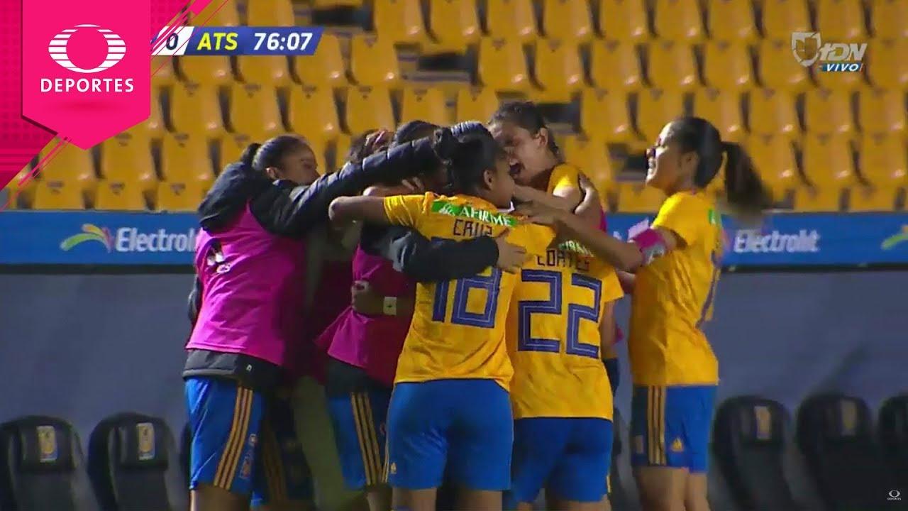 Gol de Evelyn González | Tigres 2 - 0 Atlas | Liga Mx femenil - J3 | Televisa Deportes