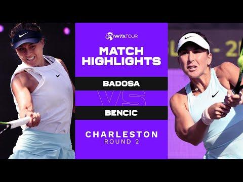 Paula Badosa vs. Belinda Bencic | 2021 Charleston Round 2 | WTA Match Highlights